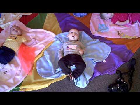 Julian at Gymboree - the parachute game