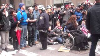 Raw Video November 17, 2011 Arrests at William and Pine street Lower Manhattan