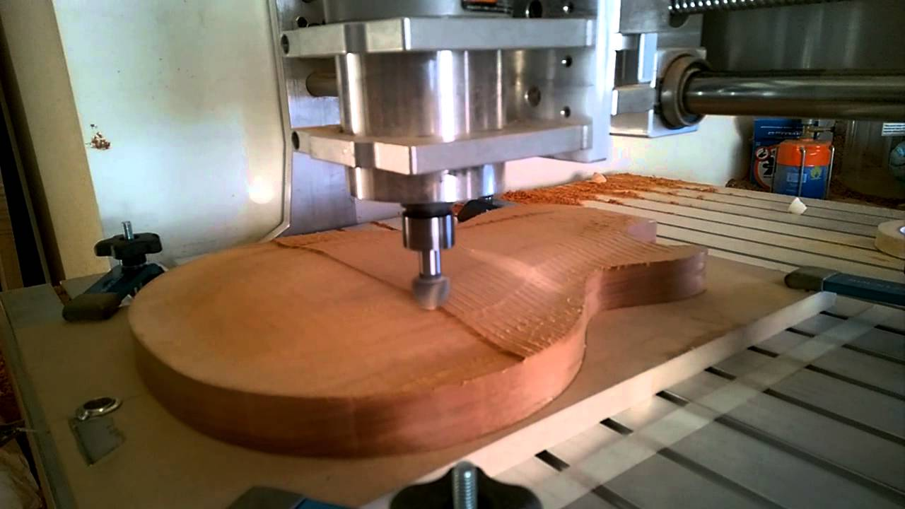 Gil yaron guitars cnc cutting a 59 les paul template top youtube pronofoot35fo Image collections
