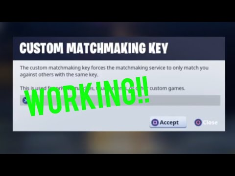 how to play custom matchmaking in fortnite