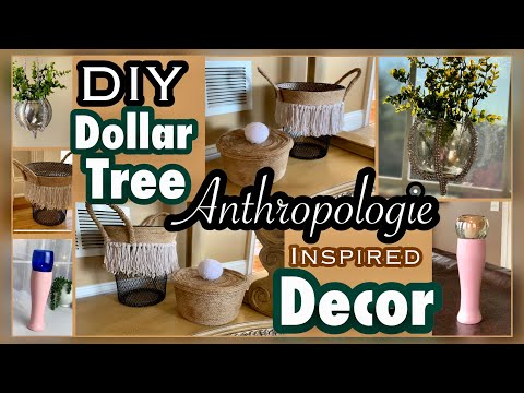 Dollar Tree ANTHROPOLOGIE Inspired DIY DECOR
