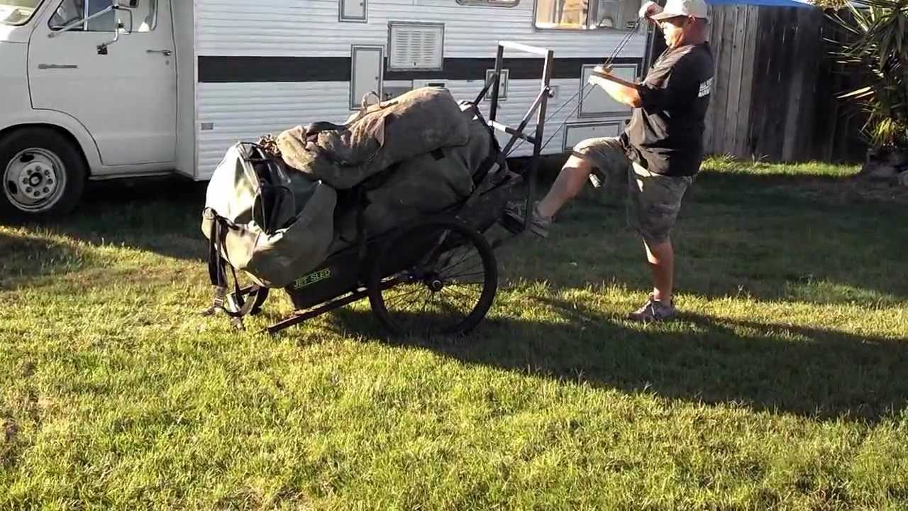 How the Sled Bed Decoy Cart works