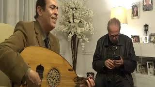 حديث الروح - عزف على عود الموسيقار رياض السنباطى (غزال) - علاء قرمان - سهرة بمنزل رياض السنباطى
