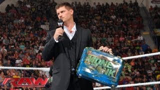 Cody Rhodes taunts Damien Sandow with his Money in the Bank briefcase: Raw, August 5, 2013