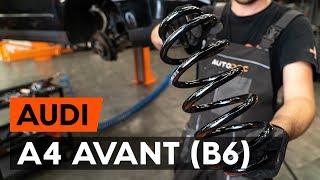 Montering Fjærer foran venstre høyre AUDI A4 Avant (8E5, B6): gratis video
