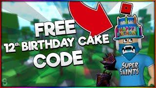 NEW FREE 12th BIRTHDAY CAKE HAT CODE!!!   Roblox PromoCodes