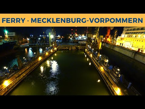 Realtime undocking of ferry MECKLENBURG-VORPOMMERN in Gdańsk Remontowa dock 5 (Stena Line)