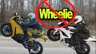Wheelies Can Damage Bike and Put You in Jail