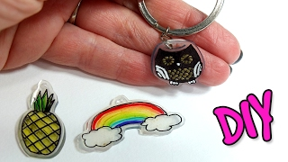 DIY Shrink Plastic Charms! How to make personalized key chains