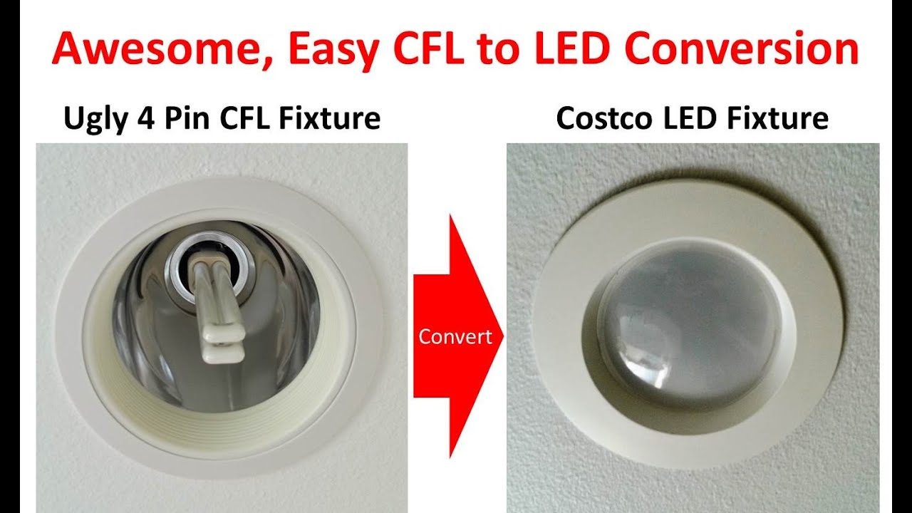 superior method for 4 pin / g24 socket cfl to led conversion with ballast  bypass - youtube  youtube