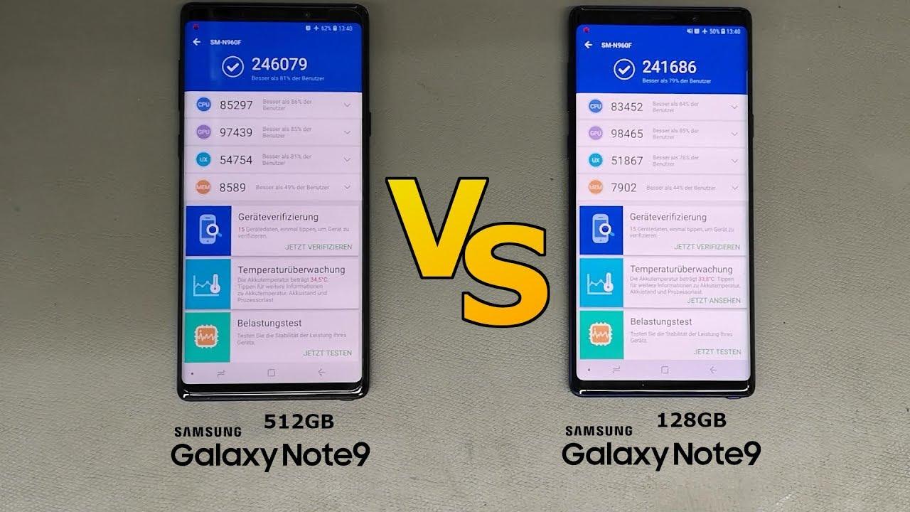 Benchmark - Note 9 (512GB) VS Note 9 (128GB)