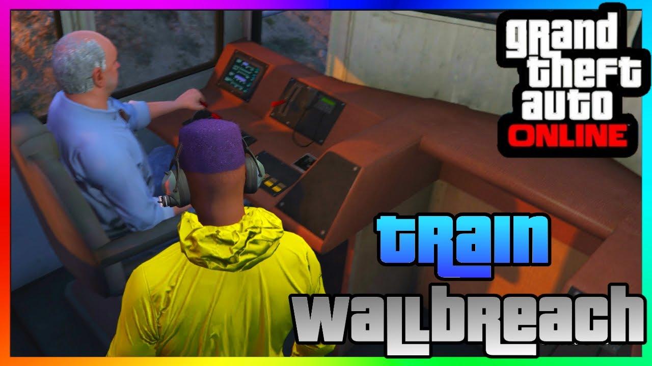 GTA 5 Online TRAIN COCKPIT WALLBREACH GLITCH Patch 1