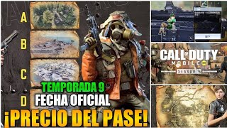 PRECIO DEL PASE + FECHA OFICIAL + NUEVAS FILTRACIÓNES de la TEMPORADA 9 | COD MOBILE
