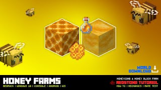 Honey Farm | Honey Block and Honey Comb Farms | Minecraft Bedrock Edition (MCBE / MCPE)