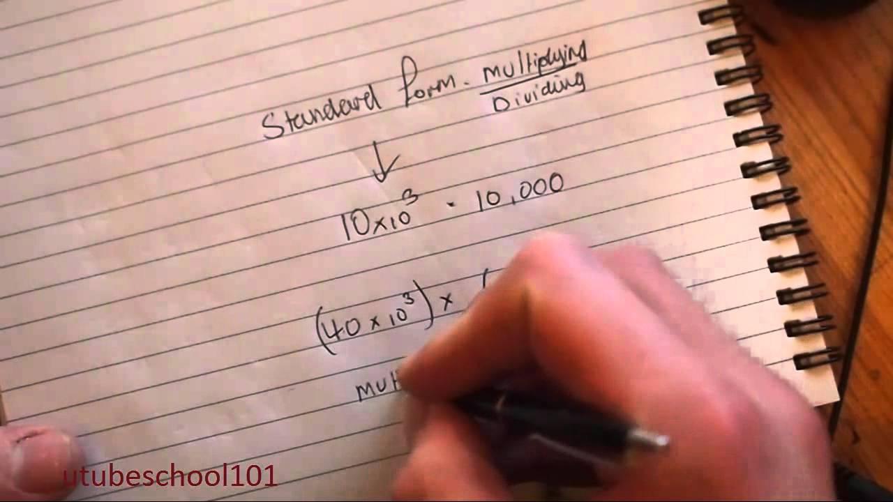 Multiply divide standard form utubeschool101 youtube multiply divide standard form utubeschool101 falaconquin