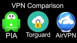 Private Internet Access vs Torguard vs AirVPN
