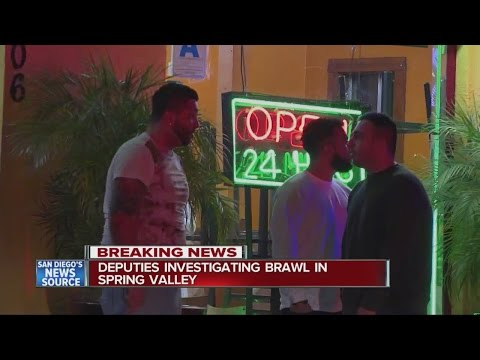 One stabbed in Spring Valley brawl
