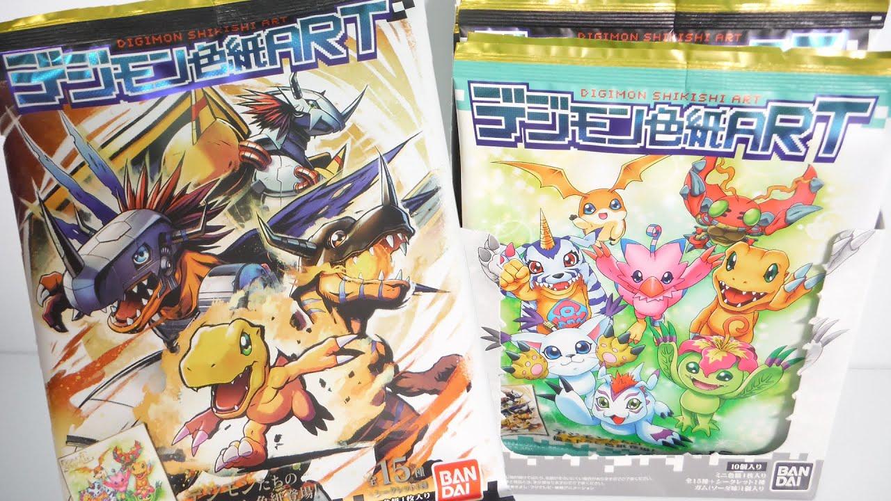 フルコンプするまで開封!!デジモン色紙ART 全16種 Digimon Adventure SHIKISHI ART 色紙アート 食玩 Japanese candy toys