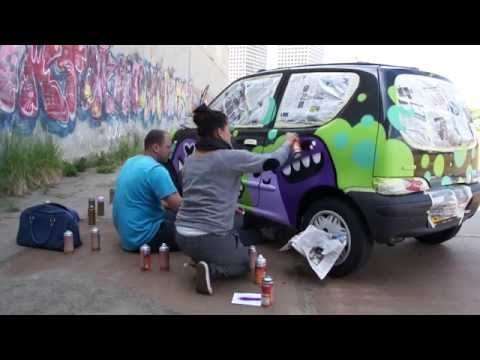 Mural Painters, Ox Alien and Doodkonijn painted my car! Rotterdam 10 juni 2015