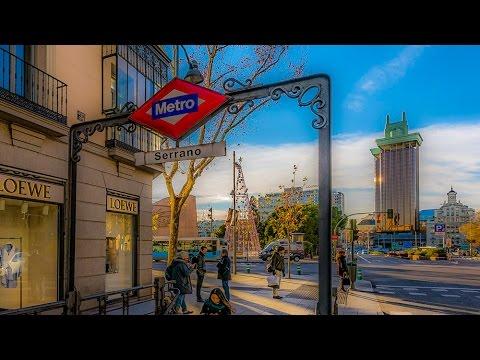 A Walk  Through The Salamanca Neighborhood Of Madrid, Spain