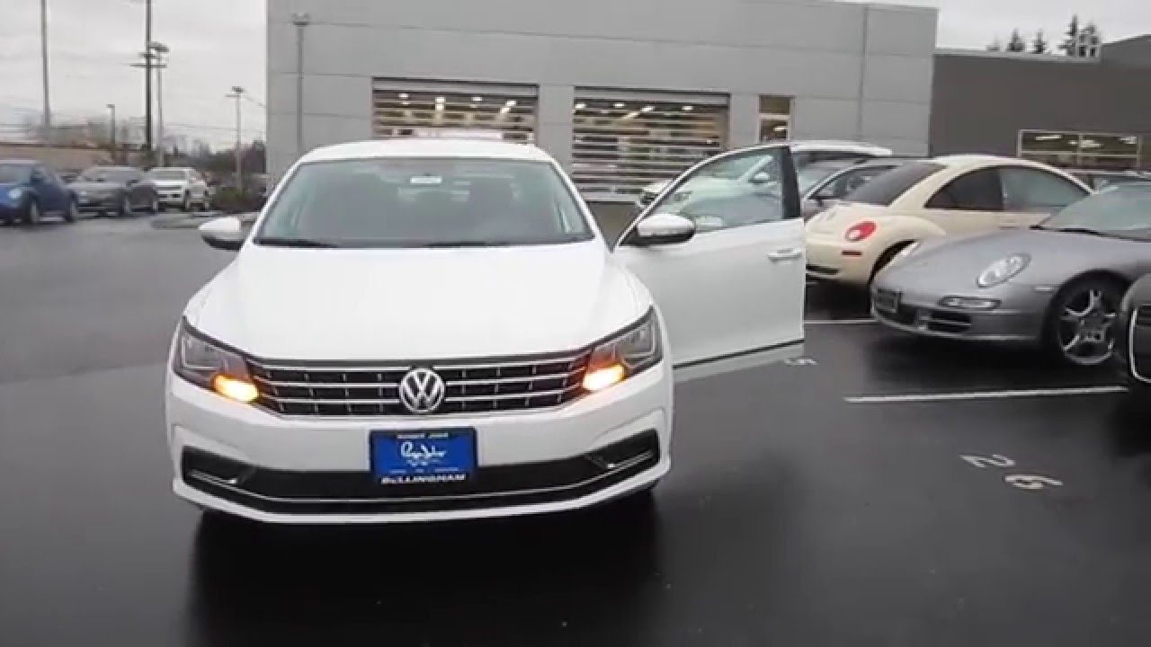2016 volkswagen passat pure white stock 110907 walk. Black Bedroom Furniture Sets. Home Design Ideas