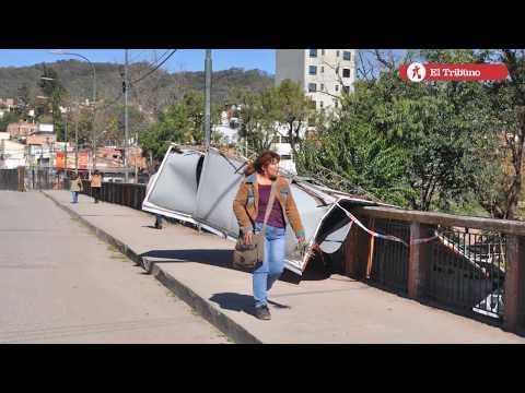 Fuerte temporal de viento Norte azoto a la capital jujeña