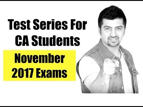 Test Series For CA IPCC | Mock Test | November 2017