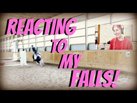 REACTING TO MY HORSEBACK RIDING FALLS AND NEVER SEEN BEFORE FOOTAGE!