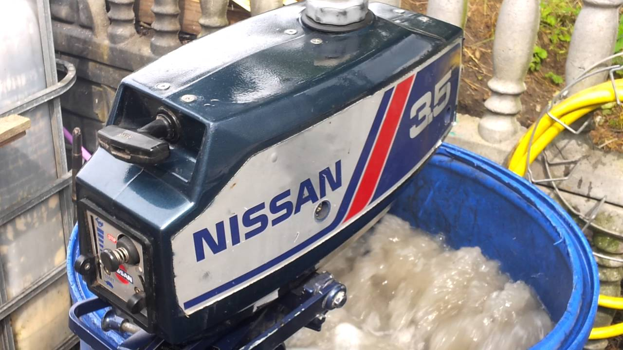 nissan 3 5 hp outboard motor 1995r 2 stroke dwusuw youtube rh youtube com Nissan 3.5 HP Outboard Parts Gamefisher 3.5 HP Outboard