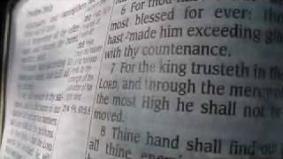 Psalm 21 King James Holy Bible