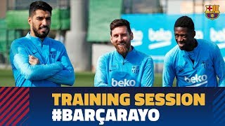 First training session to prepare the match against Rayo
