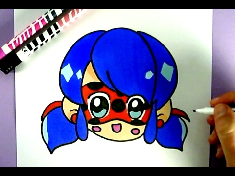 Diy kawaii niedliche miraculous ladybug selber malen for Disegni miraculous da colorare