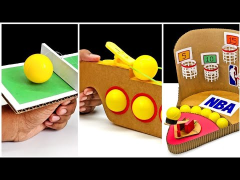 3 Amazing DIY Ping Pong Ball Games From Cardboard