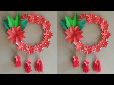 diy:-paper-flower-wall-decoration-ideas|wall-hanging-ideas|-handmade-wall-decor-craft-idea