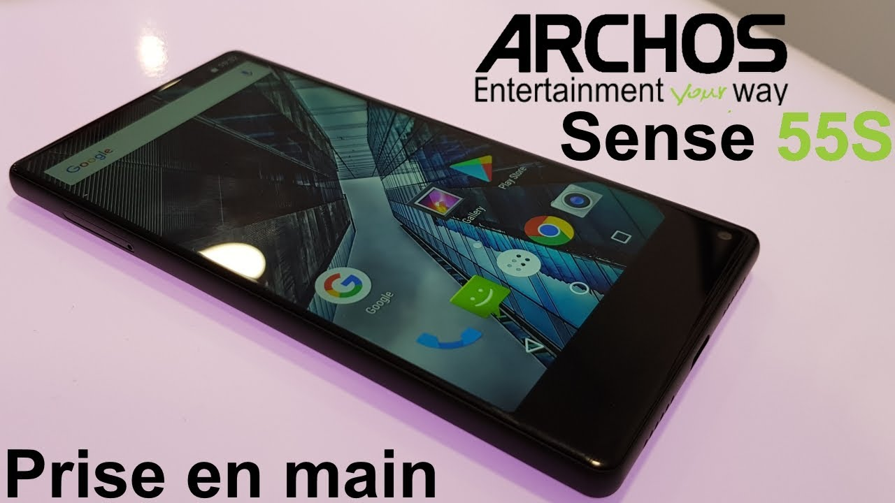 archos sense 55s borderless et double capteur 169 euros youtube. Black Bedroom Furniture Sets. Home Design Ideas
