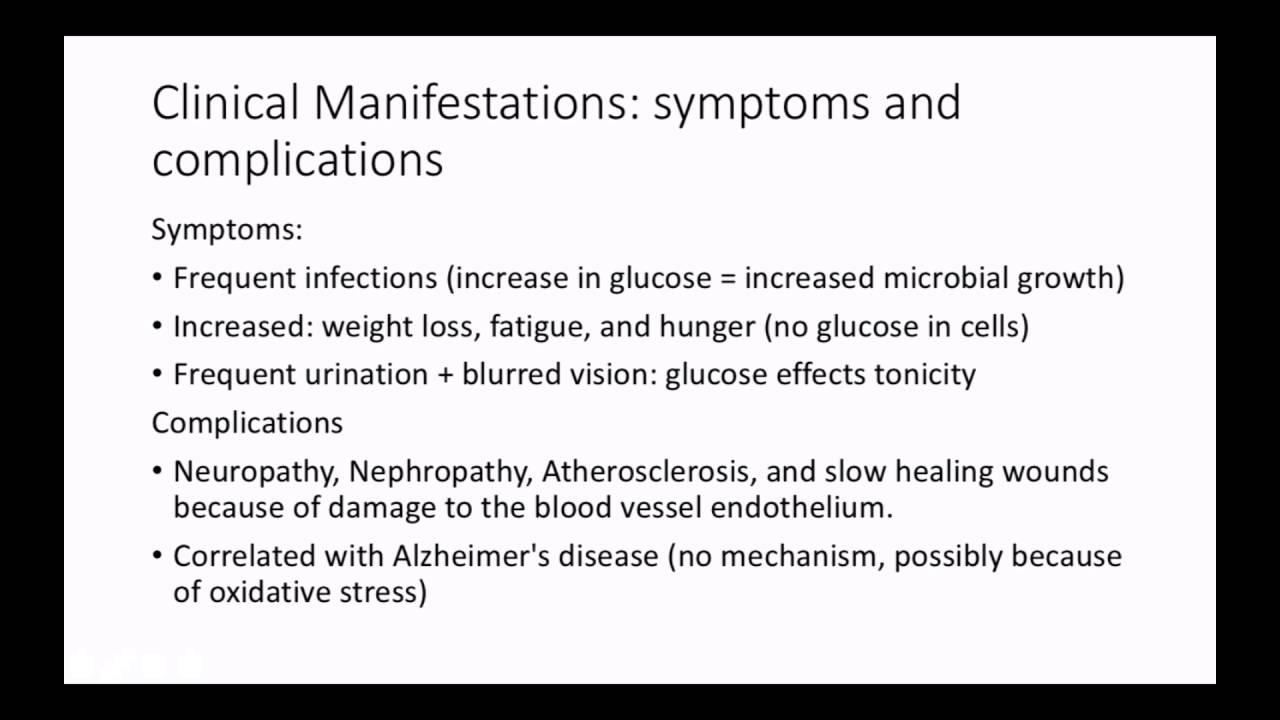 Type Ii Diabetes Concept Map Presentation Youtube