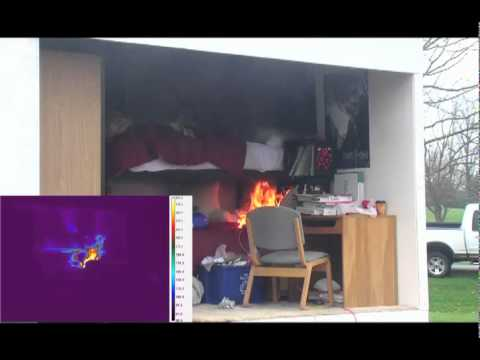 Virginia Tech Mock Dorm Room Burn Without Sprinkler Part 78