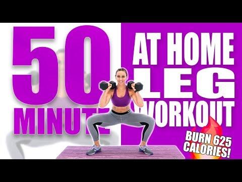 50 Minute At Home Leg Workout ��Burn 625 Calories! ��Sydney Cummings