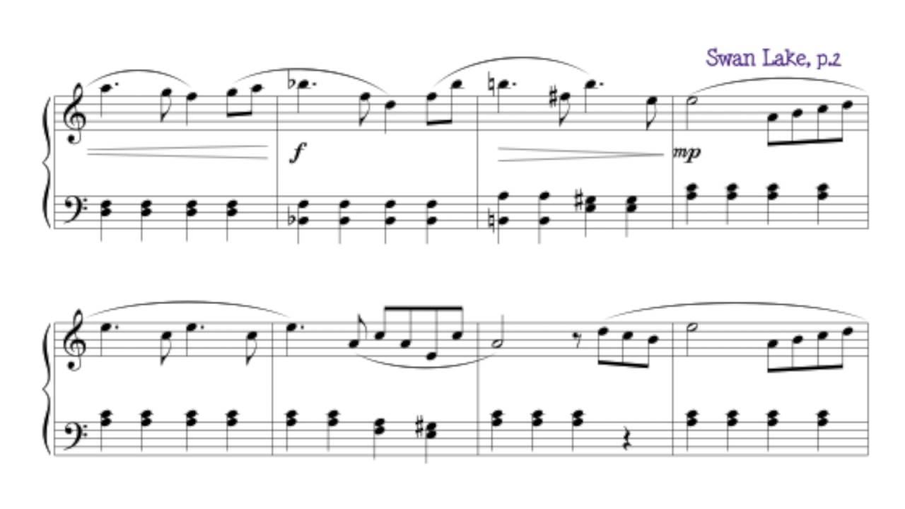 swan lake piano tutorial