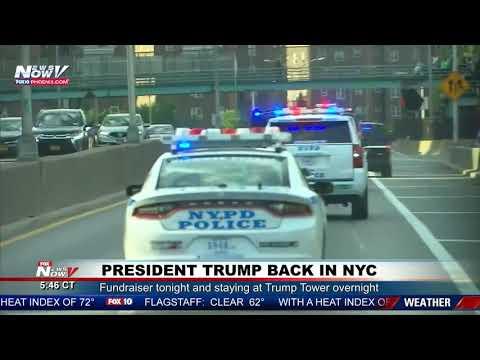RARE: President Trump Motorcade In New York City