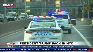 RARE: President Trump Motorcade In New York City
