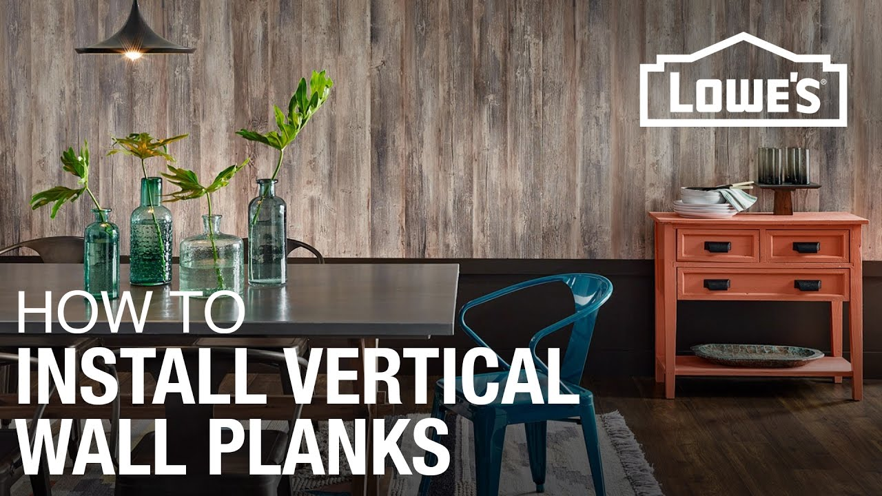 How To Install Laminate Planks Vertically On A Wall Youtube