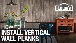 How To Install Laminate Planks Vertically On A Wall