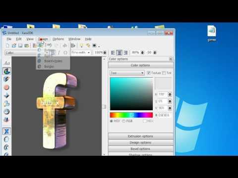 Creacion de letras en xara 3d para crear dise os en for Programa para hacer habitaciones en 3d