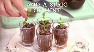 Minty choco-mole mousse pots