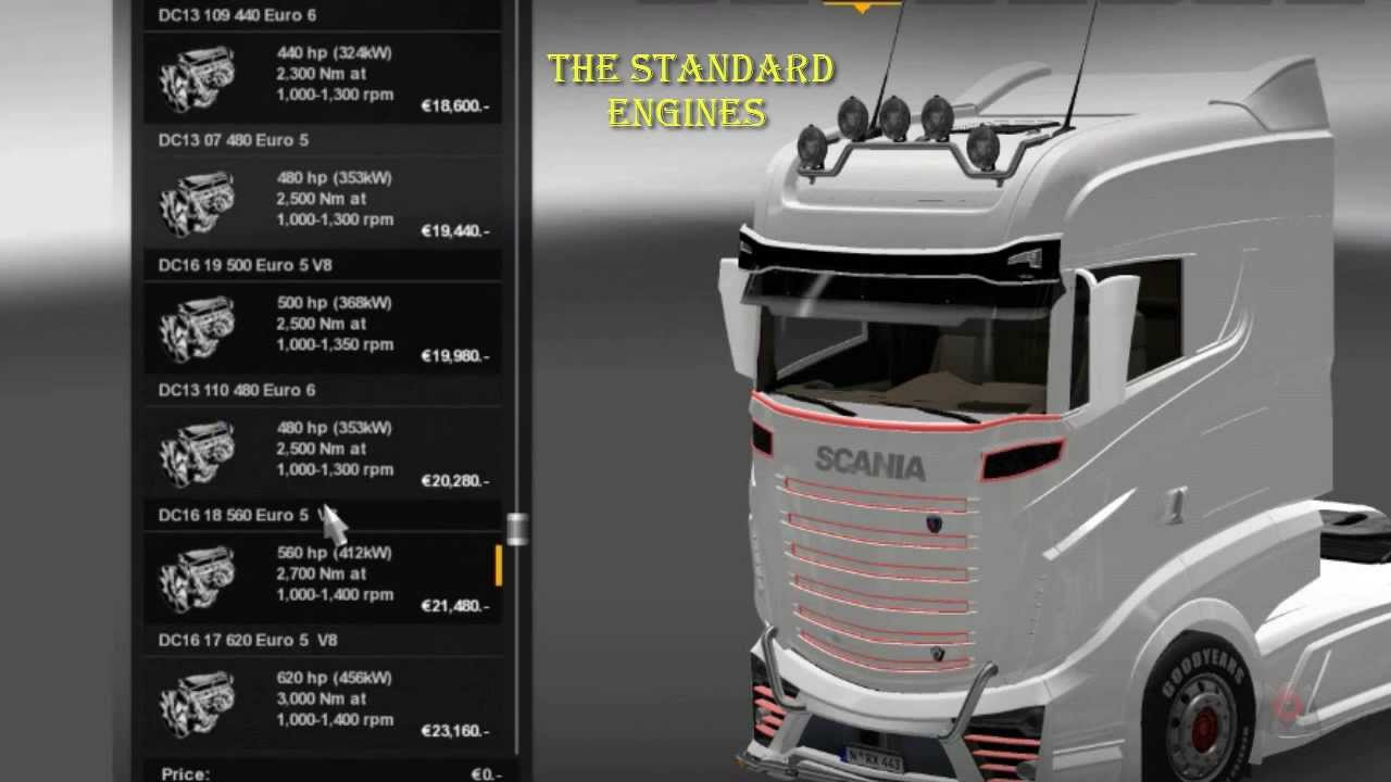 ETS2 MODS: 2000 BHP engine for all trucks - YouTube
