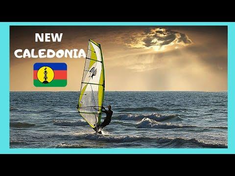 Very colorful windsurfing scenes in beautiful Noumea, NEW CALEDONIA (Pacific Ocean)