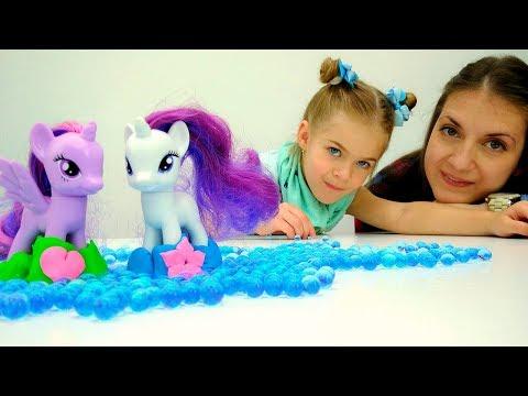 Игры #одевалки 👢Сапожки для #ЛитлПони из ПлейДо! #ПОНИ на Детской площадке! Видео для девочек