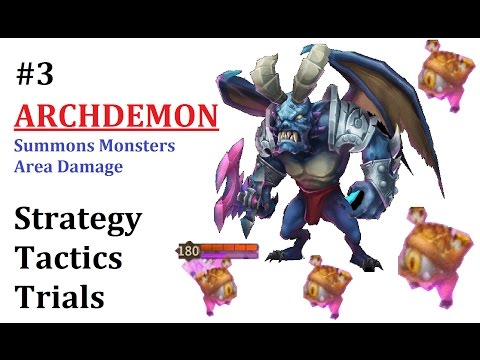 ARCHDEMON Summons Monsters Trials Fight Tactics Heroes Castle Clash World Boss P3 Tutorial