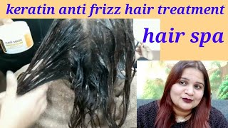 How to apply Keratin anti frizz treatment hair mask at home step by step easy and simple method